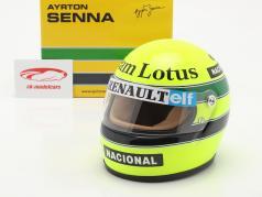 Ayrton Senna Lotus 97T #12 formula 1 1985 helmet 1:2 MBA