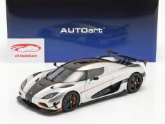 Koenigsegg Agera RS year 2015 silver / carbon 1:18 AUTOart