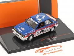 Renault 11 Turbo #3 第三名 Rallye Tour de Corse 1987 Ragnotti, Thimonier 1:43 Ixo