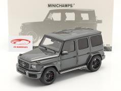 Mercedes-Benz AMG G63 Ano de construção 2018 cinza metálico 1:18 Minichamps