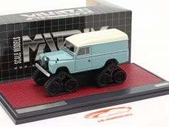 Land Rover Series II Cuthbertson Conversion 1958 turquoise / white 1:43 Matrix