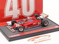 G. Villeneuve Ferrari 126CK #27 优胜者 Monaco GP F1 1981 第40名 周年纪念日 1:43 Brumm