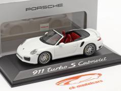 Porsche 911 (991) Turbo S Convertible Año de construcción 2013 blanco 1:43 Minichamps