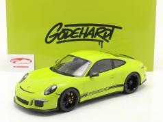 Porsche 911 (991) R Ring Police Año de construcción 2016 verde claro 1:12 Minichamps