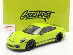 Porsche 911 (991) R Ring Police Byggeår 2016 lysegrøn 1:12 Minichamps