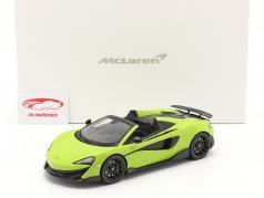 McLaren 600LT Spider Bouwjaar 2019 lime groen Met Showcase 1:18 Spark