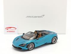 McLaren 720S Spider Bouwjaar 2019 belize blauw Met Showcase 1:18 Spark