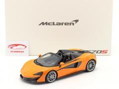 McLaren 570S Spider Año de construcción 2017 ventura naranja 1:18 TrueScale