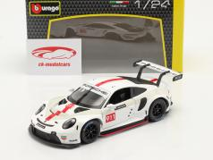 Porsche 911 RSR GT #911 白い / 赤 1:24 Bburago