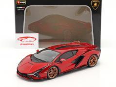 Lamborghini Sian FKP 37 建設年 2019 赤 / 黒 1:18 Bburago