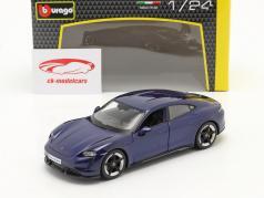 Porsche Taycan Turbo S dunkelblau 1:24 Bburago