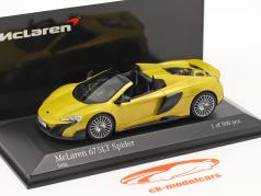 McLaren 675LT Spider Год постройки 2016 solis желтый 1:43 Minichamps