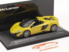 McLaren 675LT Spider Ano de construção 2016 solis amarelo 1:43 Minichamps