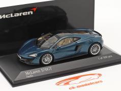 McLaren 570GT Byggeår 2017 pacific blå metallisk 1:43 Minichamps