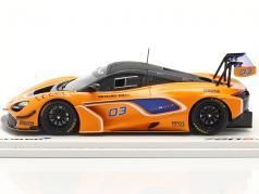 McLaren 720S GT3 2019 #03 橙子 / 蓝色的 1:43 火花