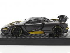 McLaren Senna MSO (P15) 建设年份 2018 碳 / 黄色的 1:43 TrueScale