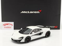 McLaren 570S Baujahr 2015 silica weiß 1:18 TrueScale