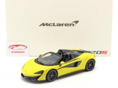 McLaren 570S Spider year 2017 sicilian yellow 1:18 TrueScale