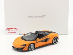 McLaren 570S Spider Año de construcción 2017 ventura naranja Con Escaparate 1:18 TrueScale
