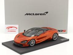 McLaren 720S Año de construcción 2017 naranja metálico 1:18 TrueScale