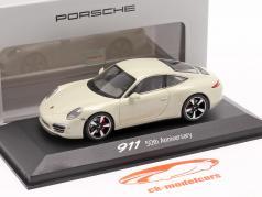 Porsche 911 (991) 白 50 年 Porsche 911 版 1:43 Minichamps