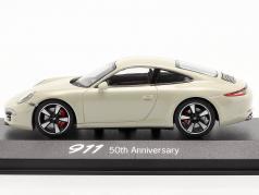 Porsche 911 (991) 白 50 岁月 Porsche 911 版 1:43 Minichamps