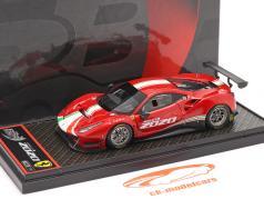 Ferrari 488 GT3 EVO Byggeår 2020 rød / hvid / grøn 1:43 BBR