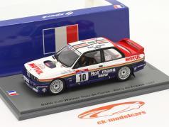 BMW M3 (E30) #10 ganador Rallye Tour de Corse 1987 Beguin, Lenne 1:43 Spark