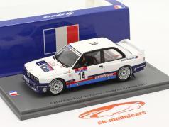 BMW M3 (E30) #14 Sexto Rallye Tour de Corse 1987 Duez, Biar 1:43 Spark