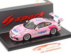 Porsche 911 GT3 Cup #1 Porsche Supercup チャンピオン 2018 M. Ammermüller 1:43 Spark