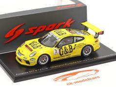 Porsche 911 GT3 Cup #2 Porsche Carrera Cup チャンピオン スカンジナビア 2018 L. Sundahl 1:43 Spark