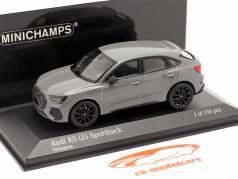 Audi RS Q3 Sportback (F3) Bouwjaar 2019 nardo grijs 1:43 Minichamps