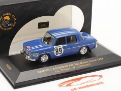 Renault 8 Gordini #89 ралли Monte Carlo 1969 Therier, Callewaert 1:43 Ixo