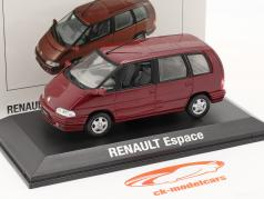 Renault Espace Bouwjaar 1992 malaga rood metallic 1:43 Norev