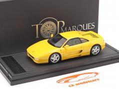 Ferrari F355 Berlinetta Baujahr 1994 gelb 1:43 TopMarques