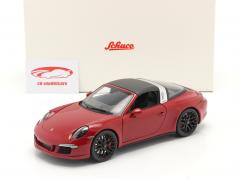 Porsche 911 (991) Carrera 4 GTS Targa year 2014 carmine 1:18 Schuco