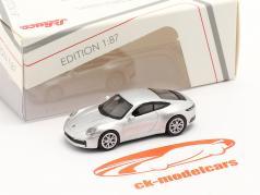 Porsche 911 (992) Carrera S Coupe серебро металлический 1:87 Schuco