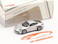 Porsche 911 (992) Carrera S Coupe zilver metalen 1:87 Schuco