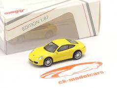 Porsche 911 (991) Carrera S Coupe gul 1:87 Schuco
