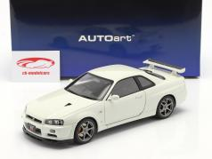 Nissan Skyline GT-R (R34) V-Spec II year 2001 pearl white 1:18 AUTOart