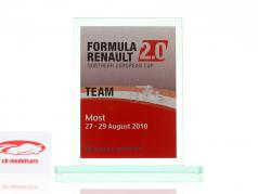 Glazen beker formule Renault 2.0 NEC team Prijs Renault Sport Most 2010