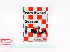 Tazza di vetro formula Renault 2.0 NEC squadra Premio Renault Sport 2009