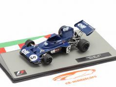 Jackie Stewart Tyrrell 006 #5 formule 1 Wereldkampioen Italiaans GP 1973 1:43 Altaya