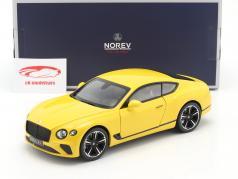 Bentley Continental GT bouwjaar 2018 Monaco geel 1:18 Norev
