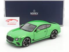 Bentley Continental GT Ano de construção 2018 maçã verde 1:18 Norev