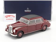 Mercedes-Benz 300 (W186) Ano de construção 1955 Sombrio vermelho 1:18 Norev