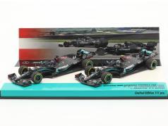 Hamilton #44 & Bottas #77 2-Car Set Mercedes-AMG F1 W11 fórmula 1 2020 1:43 Minichamps