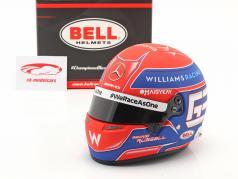 George Russell #63 Williams Racing Fórmula 1 2021 capacete 1:2 Bell