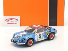 Alpine Renault A110 1800 #5 2do Rallye Tour de Corse 1973 1:18 Ixo