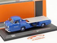 Mercedes-Benz Race Car Transporter The blue wonder year 1955 blue 1:43 Ixo